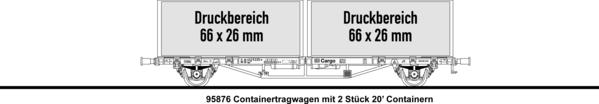 2x20' Containertragwagen