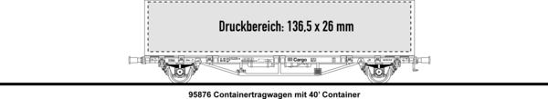 1x40' Containertragwagen