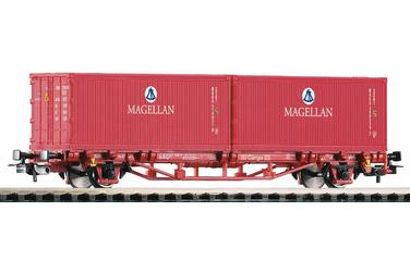 Flat Car w Container 2x20' MA