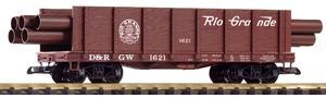 G Hochbordwagen D&RGW mit Rohrladung