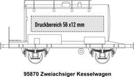 2-achsiger Kesselwagen