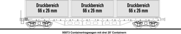 3x20' Containertragwagen
