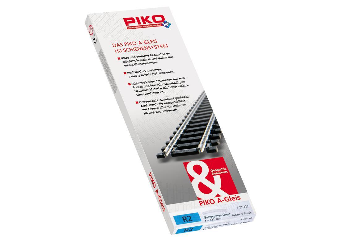 Spur H0 PIKO 55212 A-Gleis NEU Bogen R2 422 30°