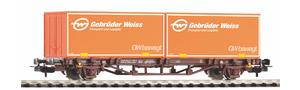 "Containertragwagen 2x20' Container ""Gebrüder Weiss"""