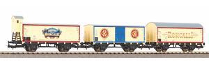 """3er Set Güterwagen """"Roncalli"""" DB III"""