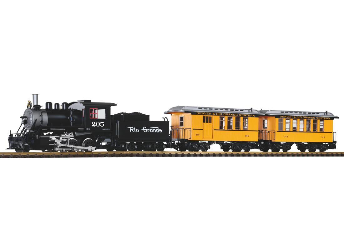 G Start-Set US Personenzug mit Dampflok (inkl. Sound+Dampf) - piko ...
